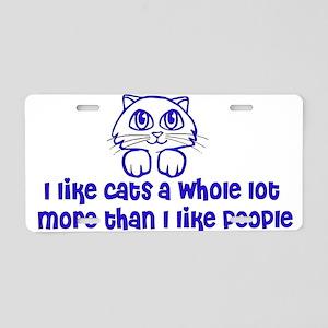 Cat Lover Aluminum License Plate