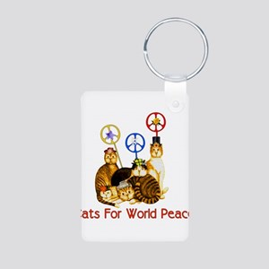 World Peace Cats Aluminum Photo Keychain