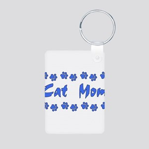 Cat Mom Aluminum Photo Keychain
