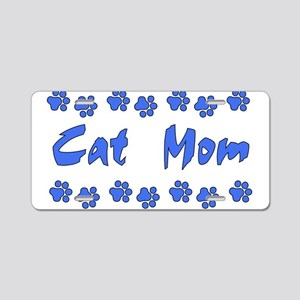 Cat Mom Aluminum License Plate