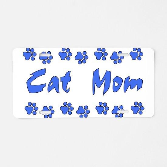 Cat Mom Aluminum License Plate