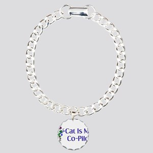 Cat Is My Co-Pilot Charm Bracelet, One Charm