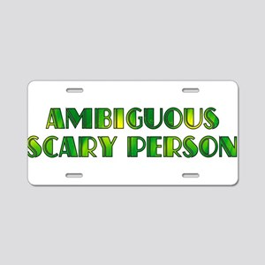 Ambiguous Scary Person Aluminum License Plate
