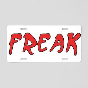 Freak Aluminum License Plate