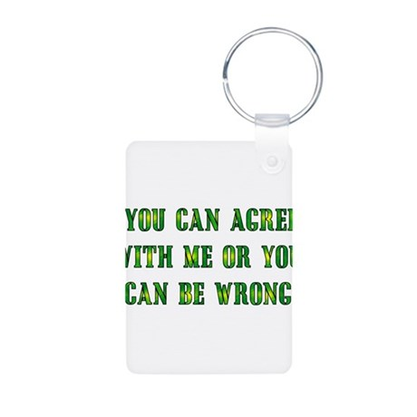 Always Right Aluminum Photo Keychain