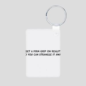 Strangle Reality Aluminum Photo Keychain