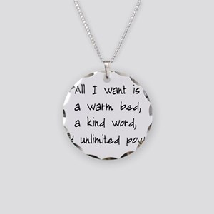 All I Want Necklace Circle Charm