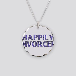 Happily Divorced Necklace Circle Charm