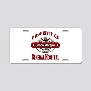 Property of Jason Morgan Aluminum License Plate