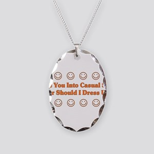 Casual Sex Necklace Oval Charm