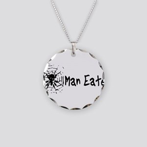 Man Eater Necklace Circle Charm