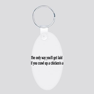 The Only Way Aluminum Oval Keychain
