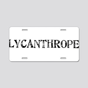 Lycanthrope Aluminum License Plate