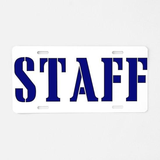 Staff t-shirt Aluminum License Plate
