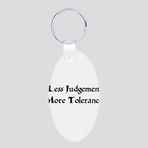 Tolerance Aluminum Oval Keychain