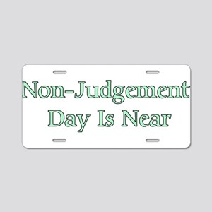 Non-Judgement Day Is Near Aluminum License Plate