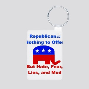 Anti-Republican Aluminum Photo Keychain