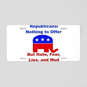 Anti-Republican Aluminum License Plate