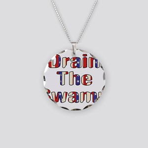 Drain The Swamp Necklace Circle Charm