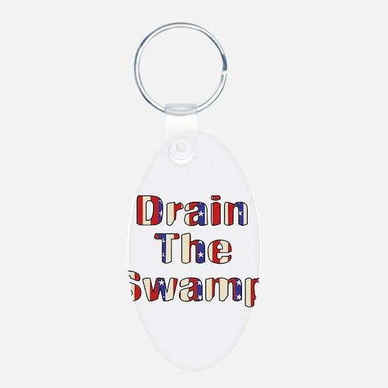 Drain The Swamp Aluminum Oval Keychain