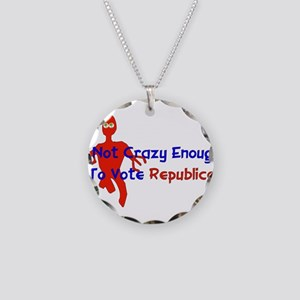 Republican Crazy Necklace Circle Charm