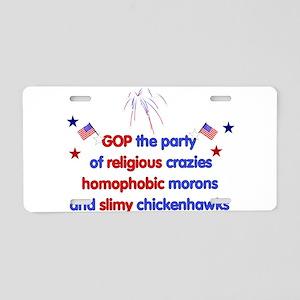 GOP Crazies Aluminum License Plate