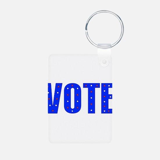 Vote Election 2008 Aluminum Photo Keychain