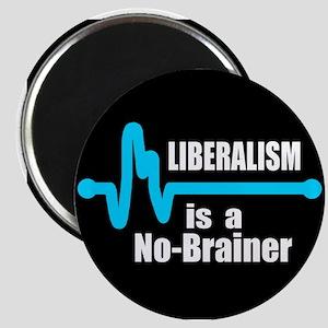 "Liberalism - no brainer 2.25"" Magnet (10 pack)"