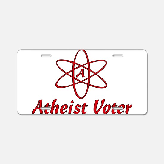 Atheist Voter Aluminum License Plate
