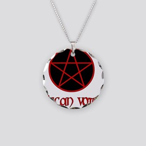 Wiccan Voter Necklace Circle Charm
