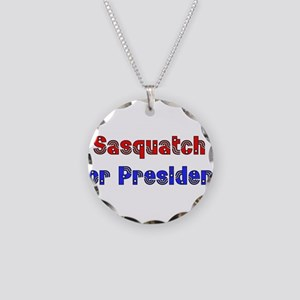 Sasquatch For President Necklace Circle Charm