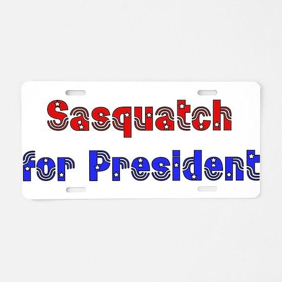 Sasquatch For President Aluminum License Plate