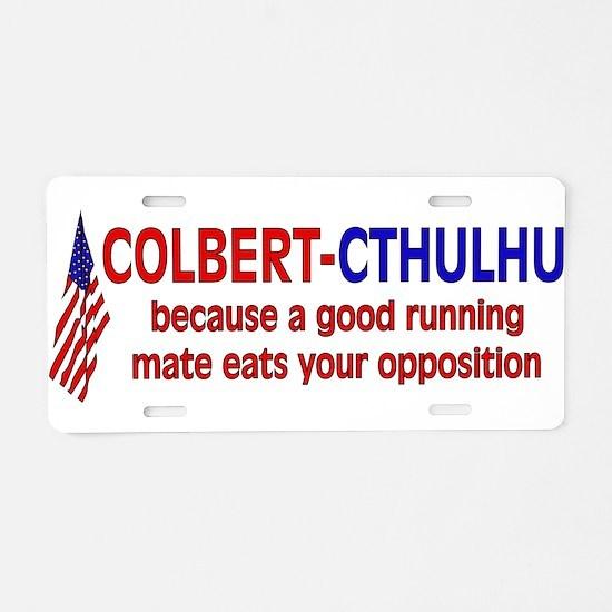 Colbert-Cthulhu Aluminum License Plate