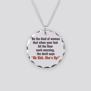 Be the Kind of Woman Necklace Circle Charm