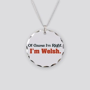 I'm Welsh Necklace Circle Charm