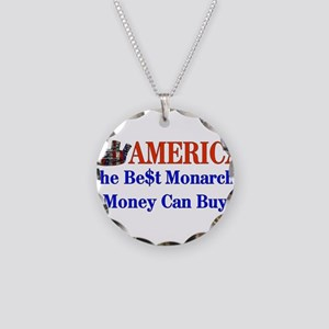 America For Sale Necklace Circle Charm