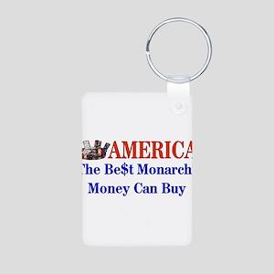America For Sale Aluminum Photo Keychain