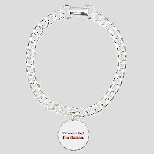 I'm Italian Charm Bracelet, One Charm