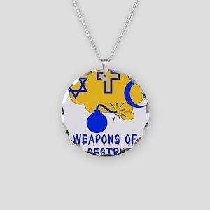 Religion Mass Destruction Necklace Circle Charm