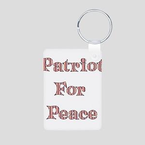 Patriot For Peace Aluminum Photo Keychain