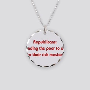 Rich Man's War Necklace Circle Charm