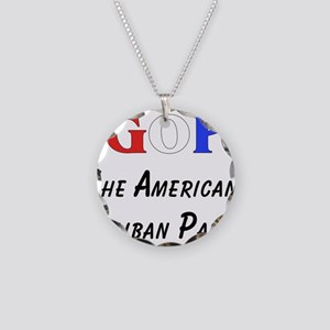 GOP American Taliban Necklace Circle Charm