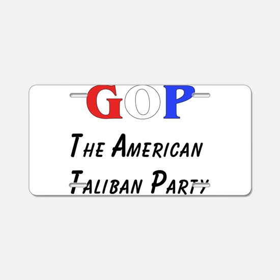 GOP American Taliban Aluminum License Plate