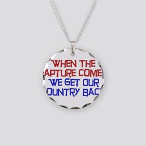 Rapture Wingnuts Necklace Circle Charm