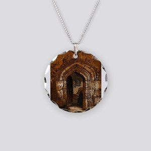 Castle of the Cat Necklace Circle Charm
