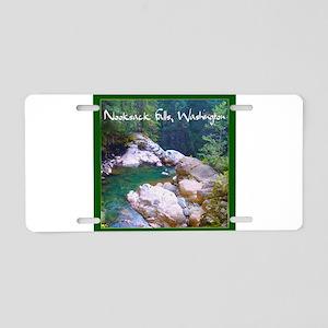 Nooksack Falls Aluminum License Plate