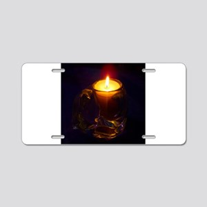 Romantic Cat Candle Aluminum License Plate