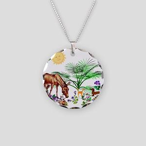 Animal Picnic Necklace Circle Charm