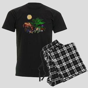 Animal Picnic Men's Dark Pajamas