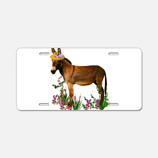 Cute Donkey Aluminum License Plate